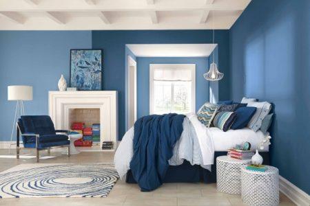 blu in camera da letto