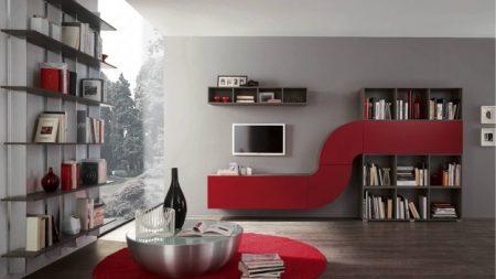 rosso in salotto